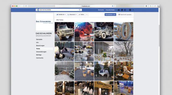 Screenshot Facebook Auftritt Das Schauwerk